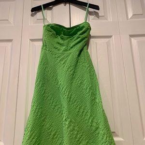 JCrew apple green tube dress